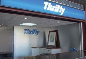 Comptoir Thrifty à l'aéroport