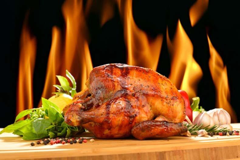 Barbecue flambé au rhum