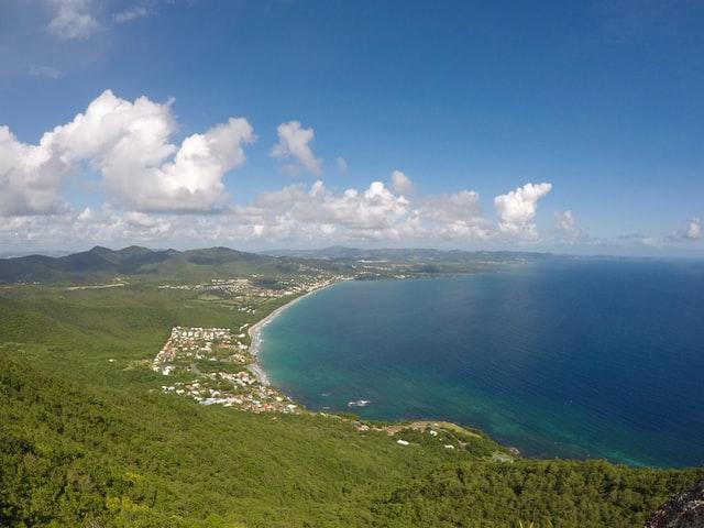 Paysage d'une crique en Martinique