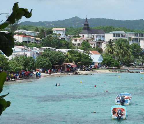 Bourg de Sainte Luce en Martinique